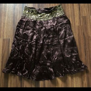 Cache Sequin Skirt
